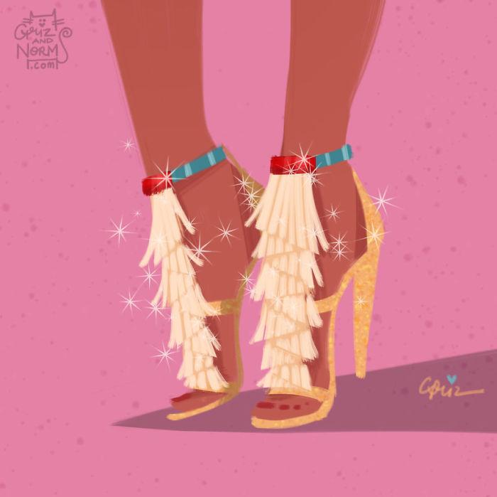 Pocohontas Chloe Griz and Norm Illustration