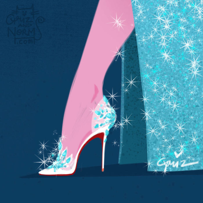 Elsa Louboutin Griz and Norm Illustration