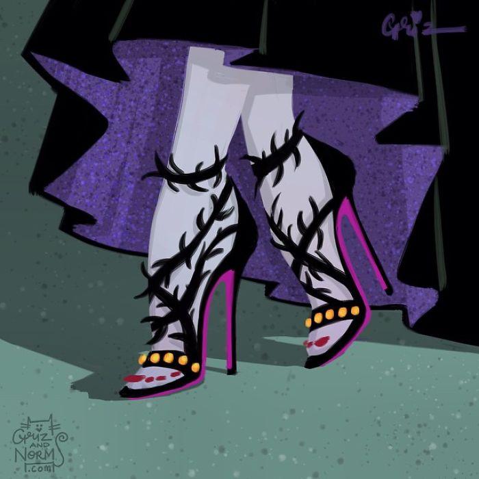Maleficent balenciaga Griz and Norm Illustration