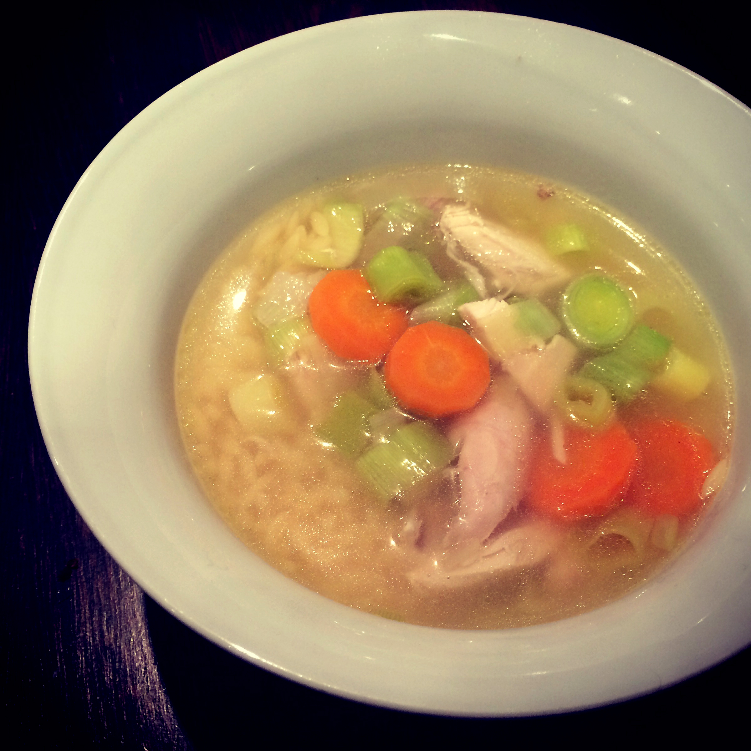 chicken soup ready