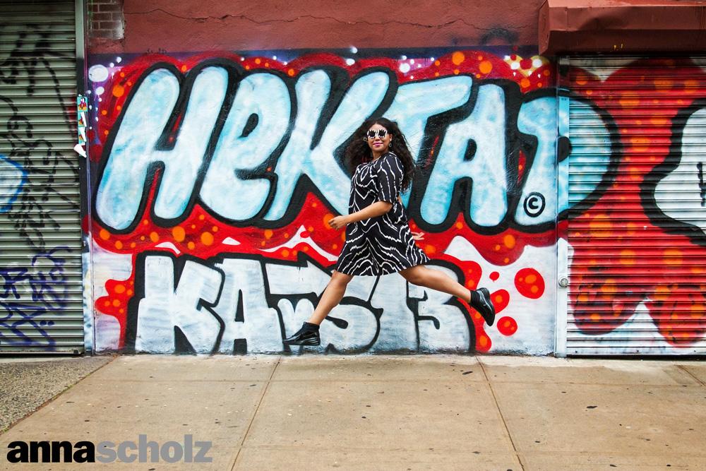 Anna Scholz Plus Size Zebra Print Neoprene Neck Pleat Dress