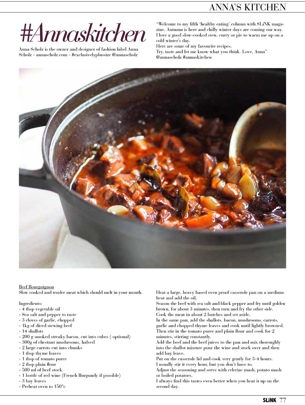anna scholz annas kitchen recipes for slink magazine - Annas Kitchen