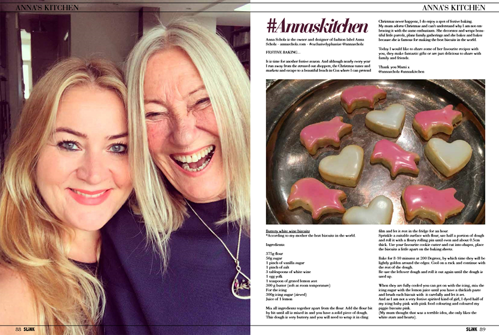 Christmas biscuits by Anna Scholz in Slink magazine