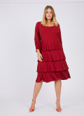 CREPE JERSEY TIERED DRESS