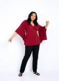 Crepe Kimono Sleeve Wrap Top