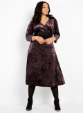 Vintage Velvet Wrap Dress