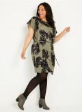 Double Silk Square Tunic Dress