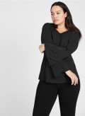 T-Shirt with Peplum Sleeves