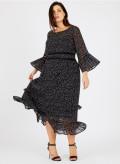Georgette Fagotting Dress
