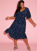 Viscose Trim Tea Dress