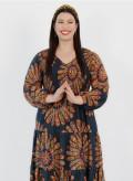 Silk Shirred Maxi Dress