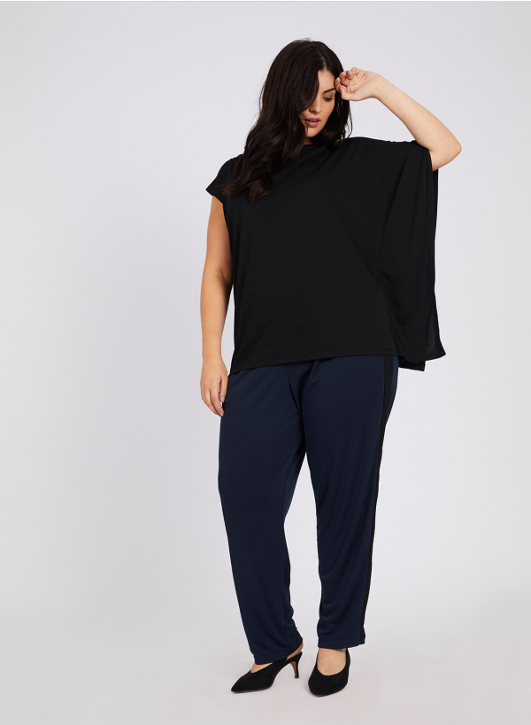CREPE JERSEY ASYMMETRIC TOP