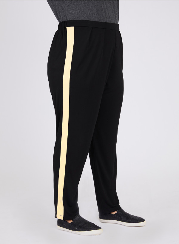 CREPE JERSEY STRIPE TROUSERS