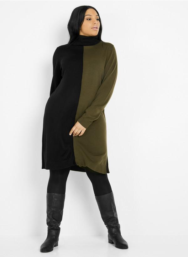 Knit Two-Tone Dress