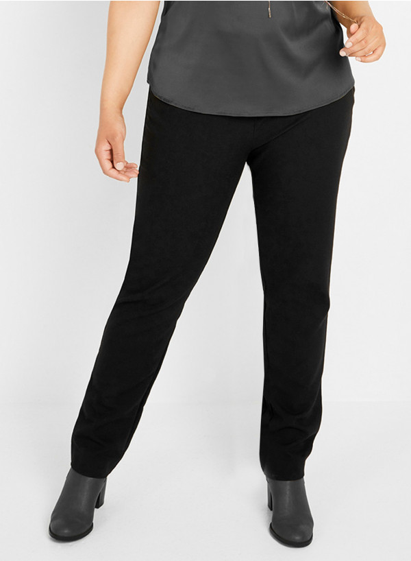 Plain Fitted Trousers