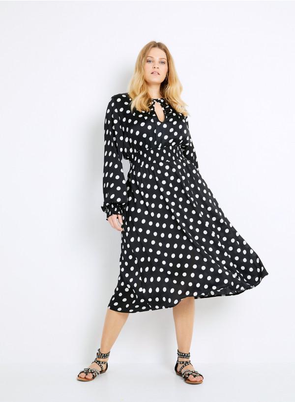 Satin Keyhole Dress