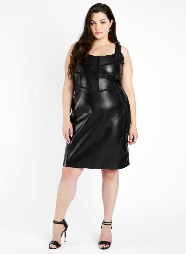 Leather Applique Dress