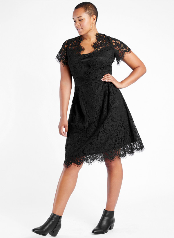 Lace Swing Dress