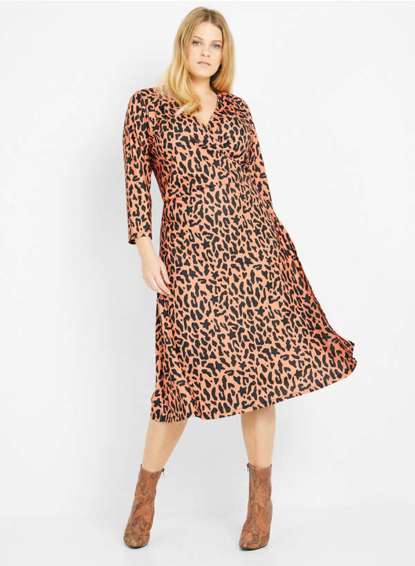 Crepe Vintage Wrap Dress