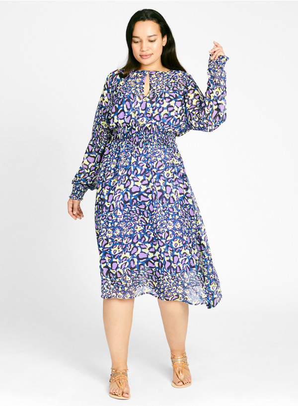 Georgette Keyhole Dress