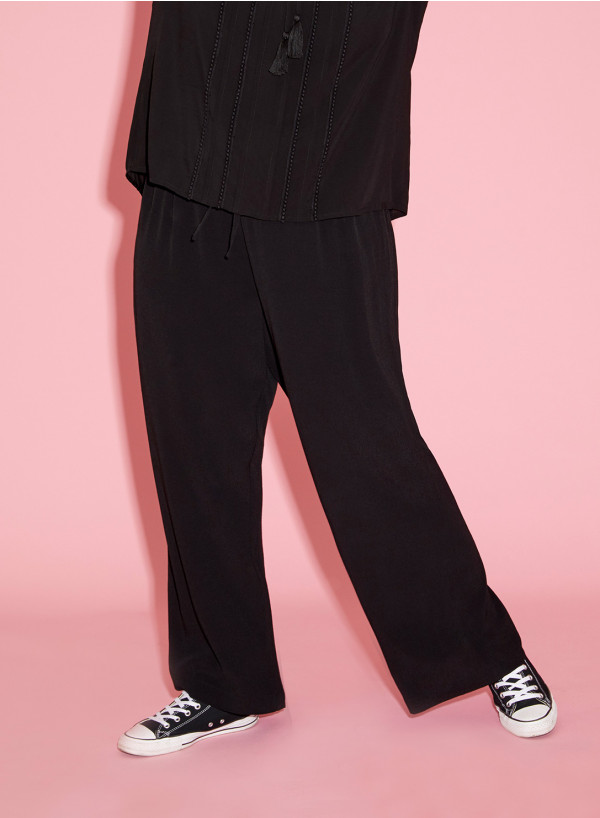 Viscose Floaty Trousers in black