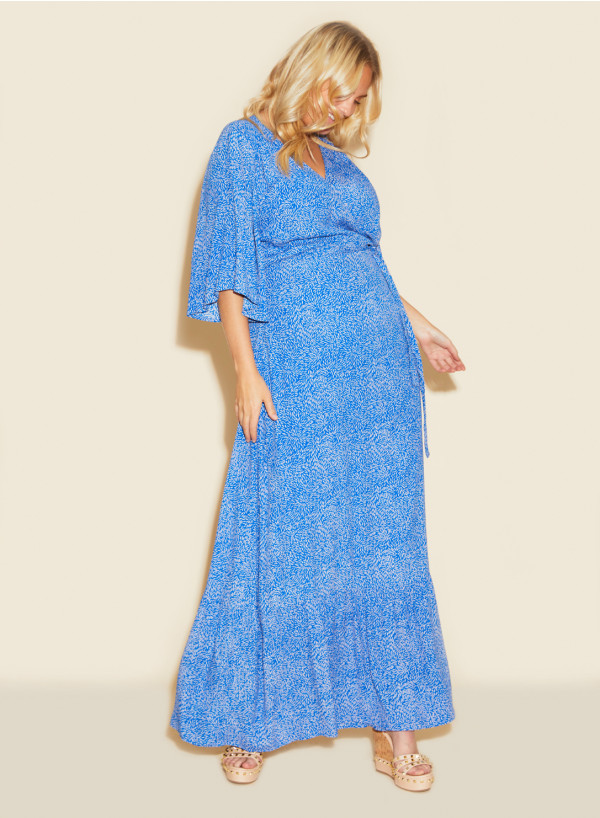 Frill Maxi Wrap Dress