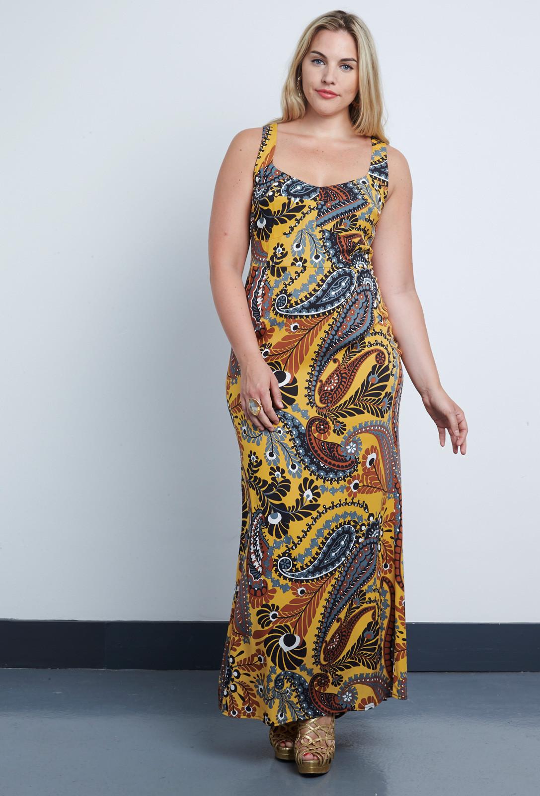38d3dea84c2 Double Silk Corset Maxi Dress from Anna Scholz plus size dress ...