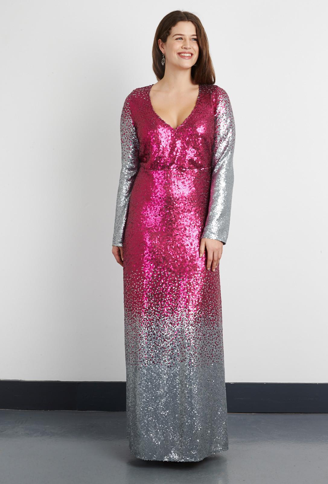 8bcd892382d Ombre Sequin Maxi Dress from Anna Scholz plus size dresses ...