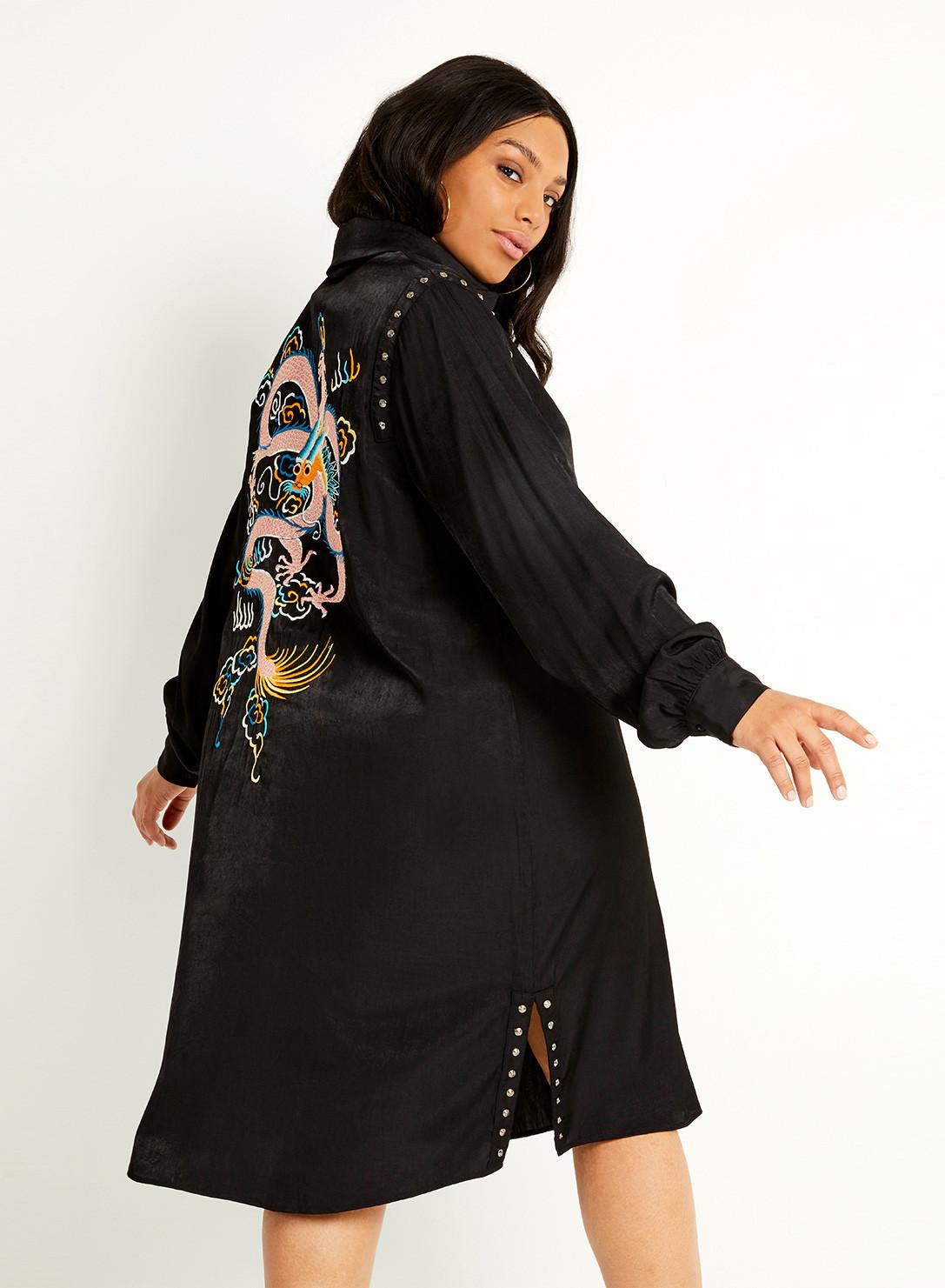 0c44f7c48ed Anna Scholz Plus Size Dragon Shirt Dress
