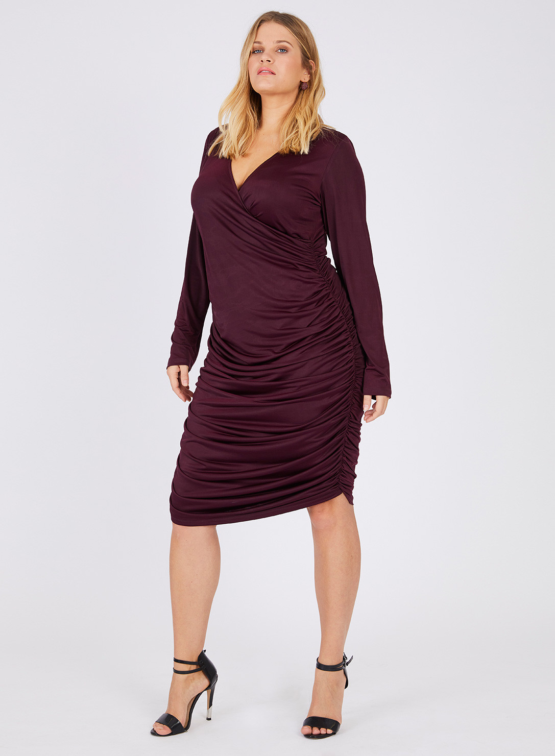 Anna Scholz Plus Size Jersey Ruched Dress