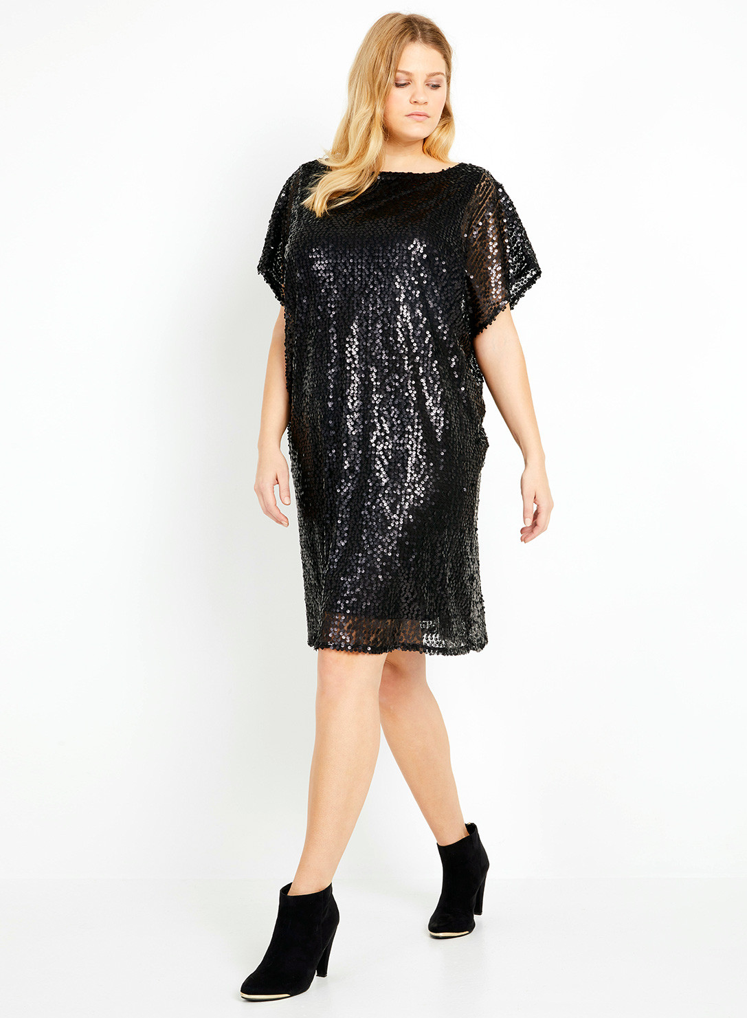 Anna Scholz Plus Size Sequin Tunic Dress