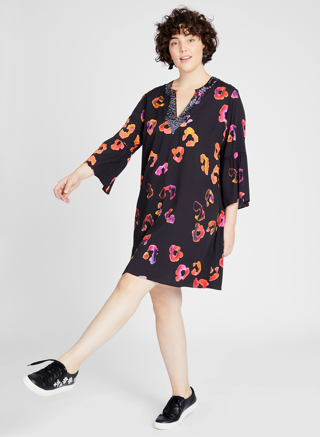Anna Scholz Plus Size double silk tunic dress