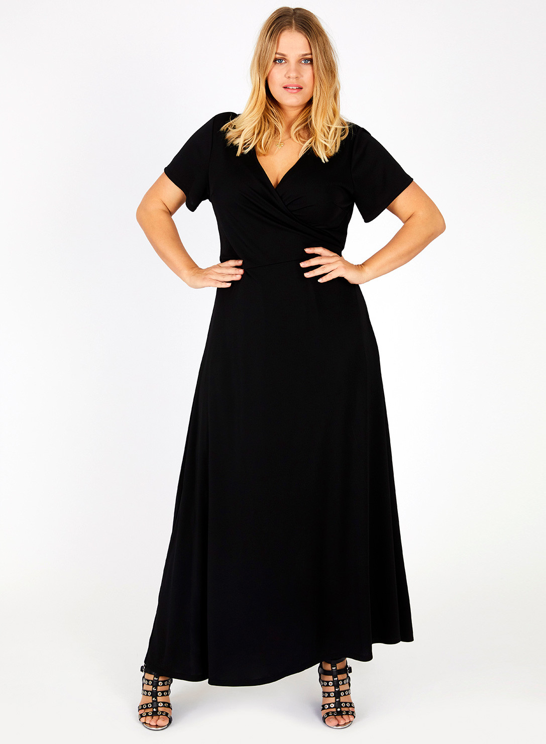 e3056e060b4 Anna Scholz Plus Size Maxi Wrap Dress