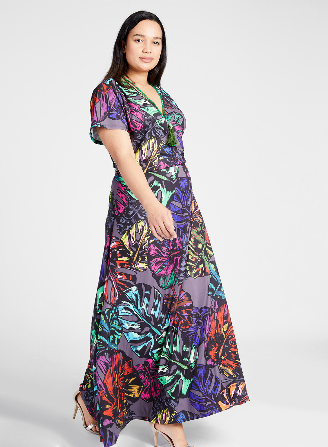 Maxi Wrap Dress Print