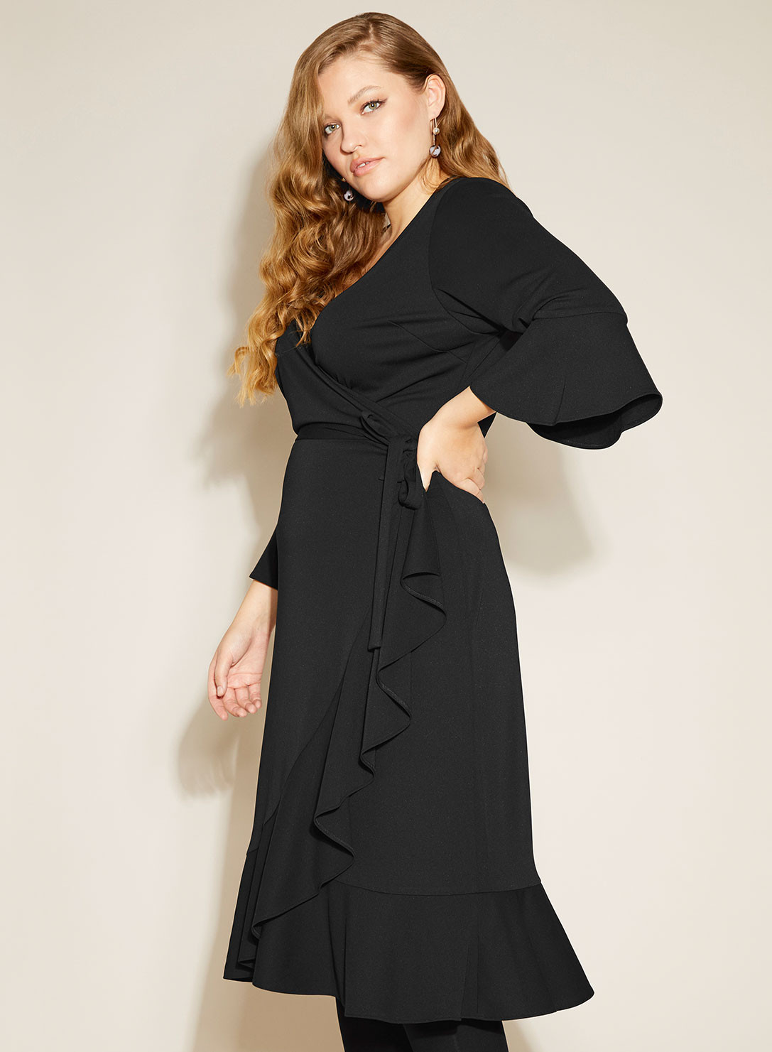 Frill Wrap Dress