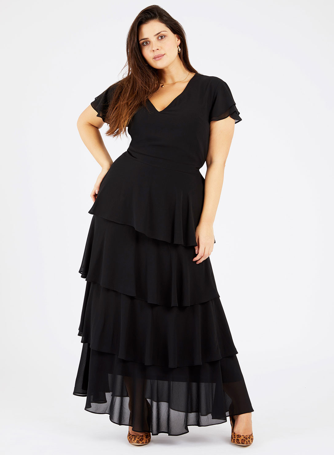 Georgette Tiered Maxi Dress