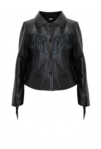 Leather Fringe Jacket