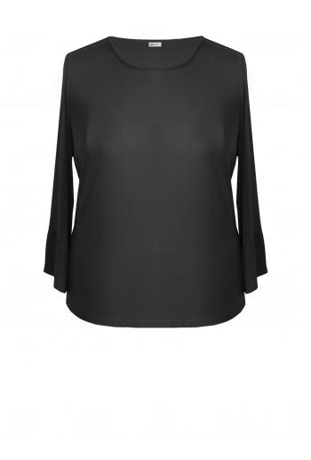 T-Shirt with Peplum Sleeves