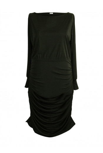 Crepe Jersey Wide Neck Dress
