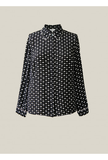 Silk Shirt with Piping