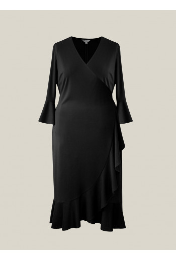 Frill Wrap Dress