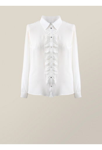 Silk Shirt with Frill