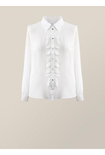 Silk Shirt with Frill