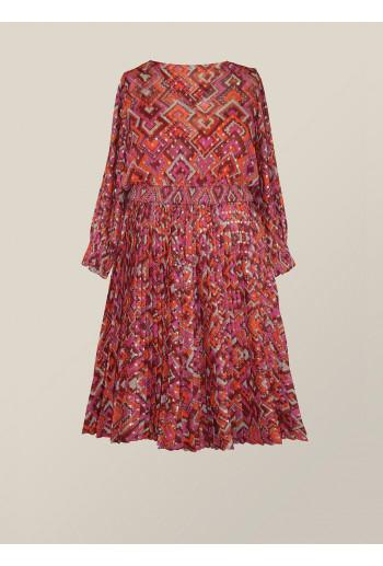 Georgette Plisse Dress