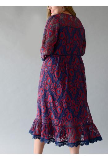 Lace Fagotting Dress